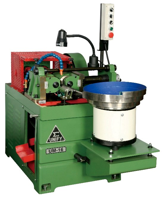 Thread rolling machine is setting with the vibration bowel.